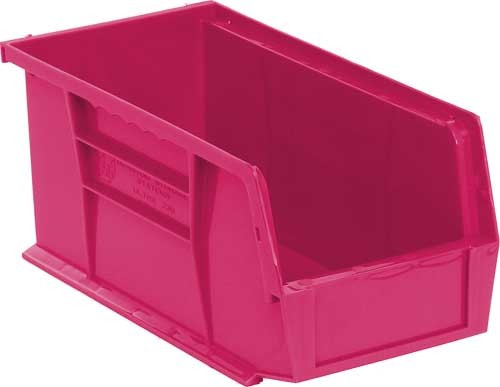 Stack and Hang Plastic Pink Bins QUS230PK 10 78 x 5 12 x 5