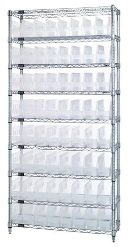 Clear Plastic Storage Bin Wire Shelving Units