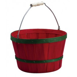 Red and Green Peck Basket