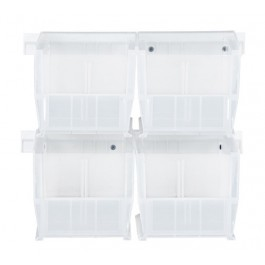 Clear Plastic Storage Bins with Rails