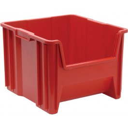 Plastic Stackable Storage Container Red