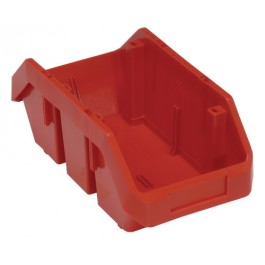 Double Open Hopper Bin Red