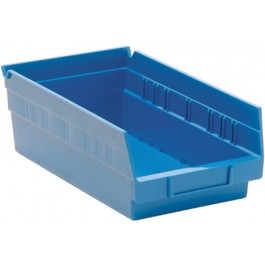 Plastic Shelf Bins QSB102 Blue