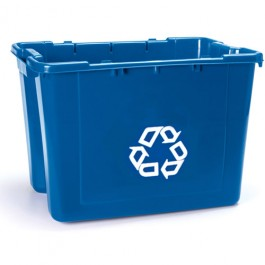 14-Gallon Recycling Plastic Box