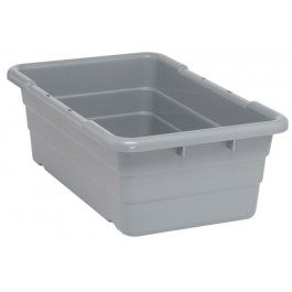Plastic Cross Stack Tubs Gray