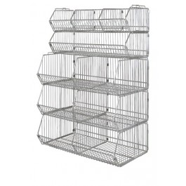 "48"" Stationary Stacking Baskets"