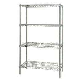 "86""H Conductive Chrome 4-Shelf Starter Kits"