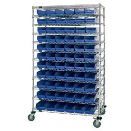 Plastic Storage Bin Wire Shelving Units