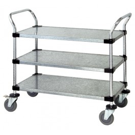 Solid Shelving Utility Carts