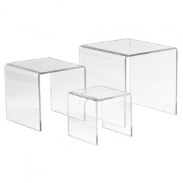 Set of 3 Acrylic Display Risers - ADR-S345
