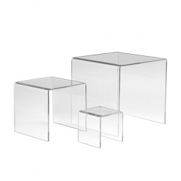 Set of 3 Acrylic Display Risers - ADR-S357