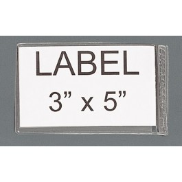 "3"" x 5"" Adhesive Clear Label Holders"