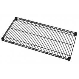 "24"" x 72"" Black Wire Shelving Shelves"
