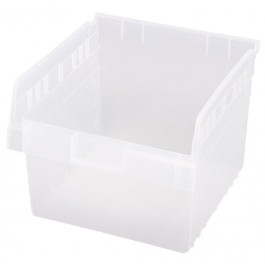 Clear Plastic Shelf Bins QSB809CL
