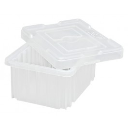 Clear Dividagble Grid Containers with Lids