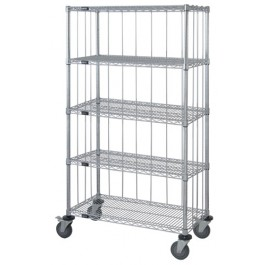 Enclosed Wire Shelving Carts