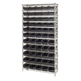 Conductive ESD Wire Shelving Plastic Storage Bin Unit