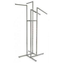 4-Way Square Tubing Garment Racks