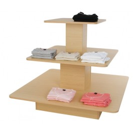 3-Tier Melamine Square Table