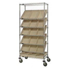 Plastic Storage Bin Wire Shelving Units
