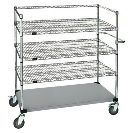 Stainless Steel Wire Shelving Cart