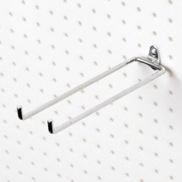 "Pegboard 8"" Double Rod, 80° Bend"