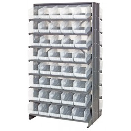 Double Sided Pick Rack with Clear Bins