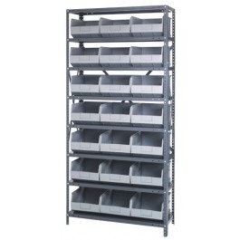 Gray Storage Bin Steel Shelving Systems