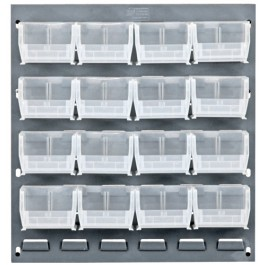 Clear Plastic Storage Bin Louvered Panel Systems