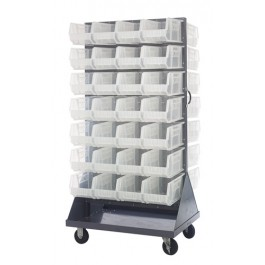 Clear Plastic Storage Bin Louvered Panel Racks