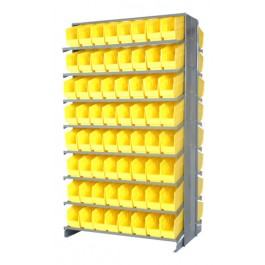 Double Sided Pick Rack with Yellow Bins