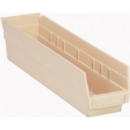 Plastic Shelf Bins QSB103 Ivory