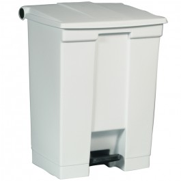 White Medical Waste Step-On Container