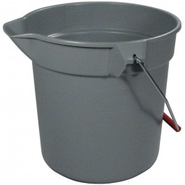 10-Quart Round Bucket Gray