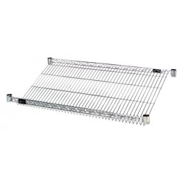Slanted Chrome Wire Shelves