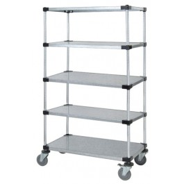5 Solid Shelf Stem Caster Cart