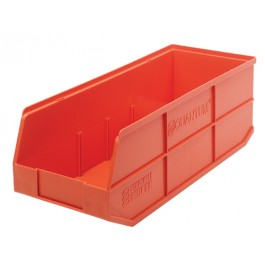 Plastic Stackable Shelf Bin - SSB483 Orange