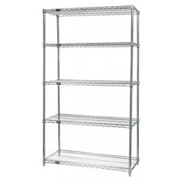 Stainless Steel 5-Shelf Wire Shelving Units