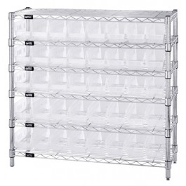 Clear Plastic Storage Bin Wire Shelving Units