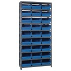 Blue Plastic Bins Steel Shelving Systems