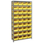 Yellow Plastic Storage Bin Steel Shelving Systems
