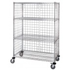 4 Wire Shelf Stem Caster Linen Cart