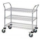 Conductive ESD Wire Shelving Utility Carts
