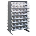 Plastic Storage Bin Sloped Shelving Pick Rack with Clear Bins