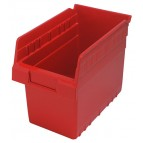 Plastic Shelf Bin QSB802 Red