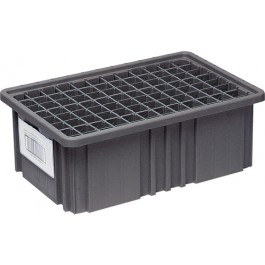 Conductive ESD Plastic Storage Container Label Holders