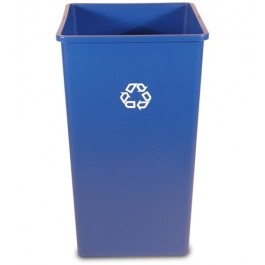 50-Gallon Recycling Square Container