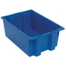 SNT200 Blue Plastic Stack and Nest Tote