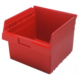 Plastic Shelf Bins QSB809 Red
