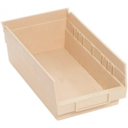 QSB102 Ivory Plastic Bins